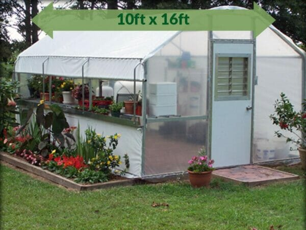 Riverstone Industries (RSI) 10ft x 16ft Carver Educational Greenhouse  R1016-P - full view