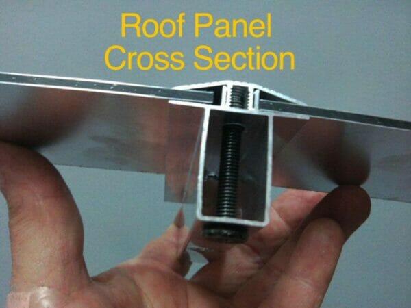 Paragon Cambridge Hard Top Gazebo 12ft x 12ft Roof Panel Cross Section