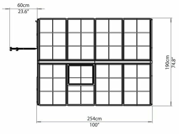 Palram 6ft x 8ft Snap & Grow Hobby Greenhouse - dimensions
