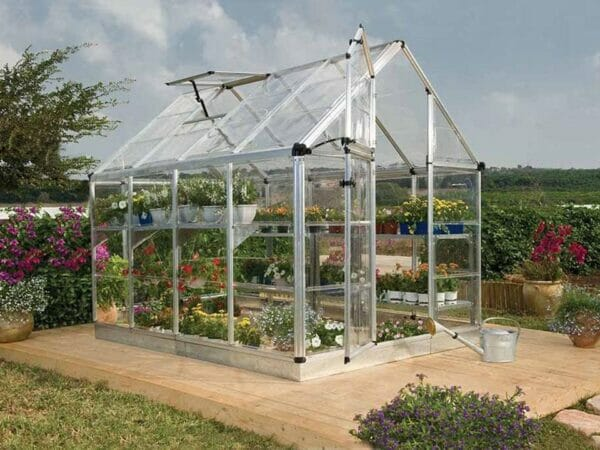 Palram 6ft x 8ft Snap & Grow Hobby Greenhouse - full view