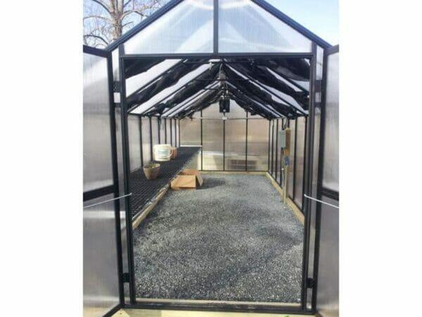 Riverstone Monticello Greenhouse 8x12 - Premium Package - interior view