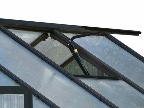 Riverstone Monticello Greenhouse 8x20 - Premium Package - roof vent with automatic opener
