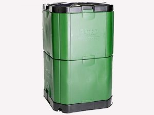 Closed Aerobin 400 Insulated Composter - gray background