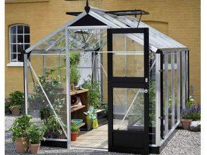 3 mm toughened glass Aluminum Juliana Compact Greenhouse 7ft x 12ft