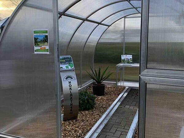 Arcus 4 Greenhouse 10x13 - Open door - Front view