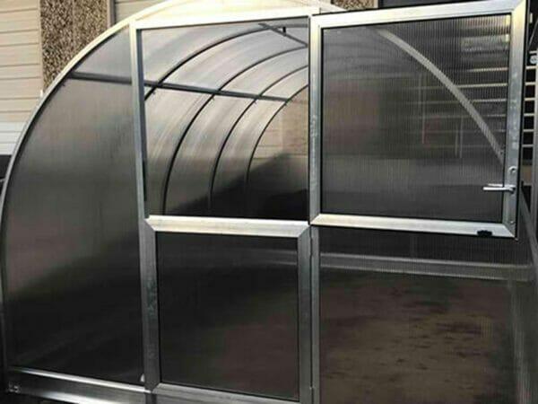 Arcus 4 Greenhouse 10x13 - front view - Upper door open