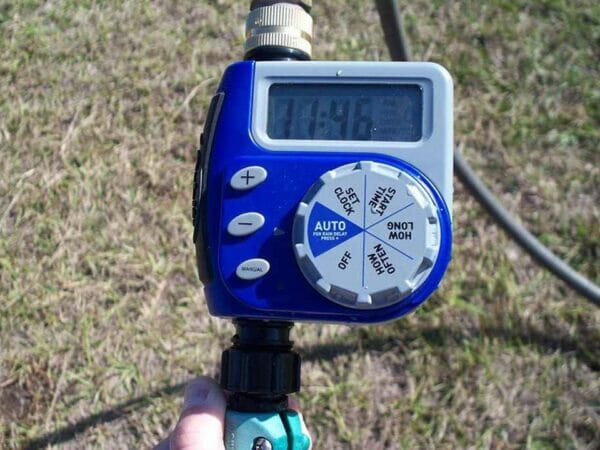 Monticello Automatic Greenhouse Watering System - digital watering timer