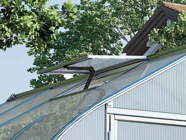 Palram Bella Silver 8ft x 8ft Hobby Greenhouse HG5408 - open roof vent