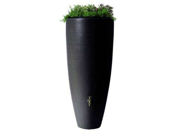 Bullet Rain Barrel with Planter with white background