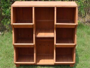 Empty Storage Cubby Shelf - front view