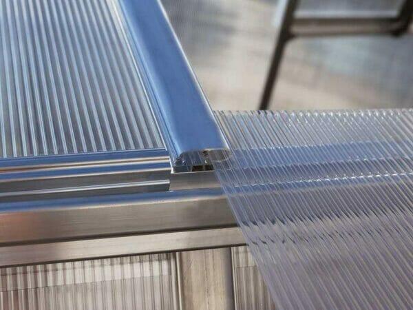 Palram Essence 8ft x 12ft Hobby Greenhouse - HG5812 - sliding polycarbonate panel