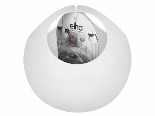 White ELHO Euro Hanging Planters