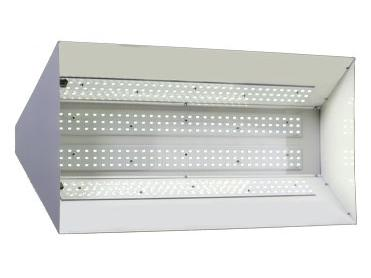 Bottom of the GENESIS LED Powered Grow Light System GL400 showing the light bulbs - white background