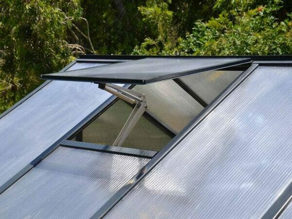 Palram Glory 8ft x 8ft Hobby Greenhouse HG5608 - open roof vent