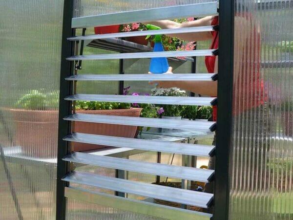 Palram Glory 8ft x 8ft Hobby Greenhouse HG5608 - side louver window