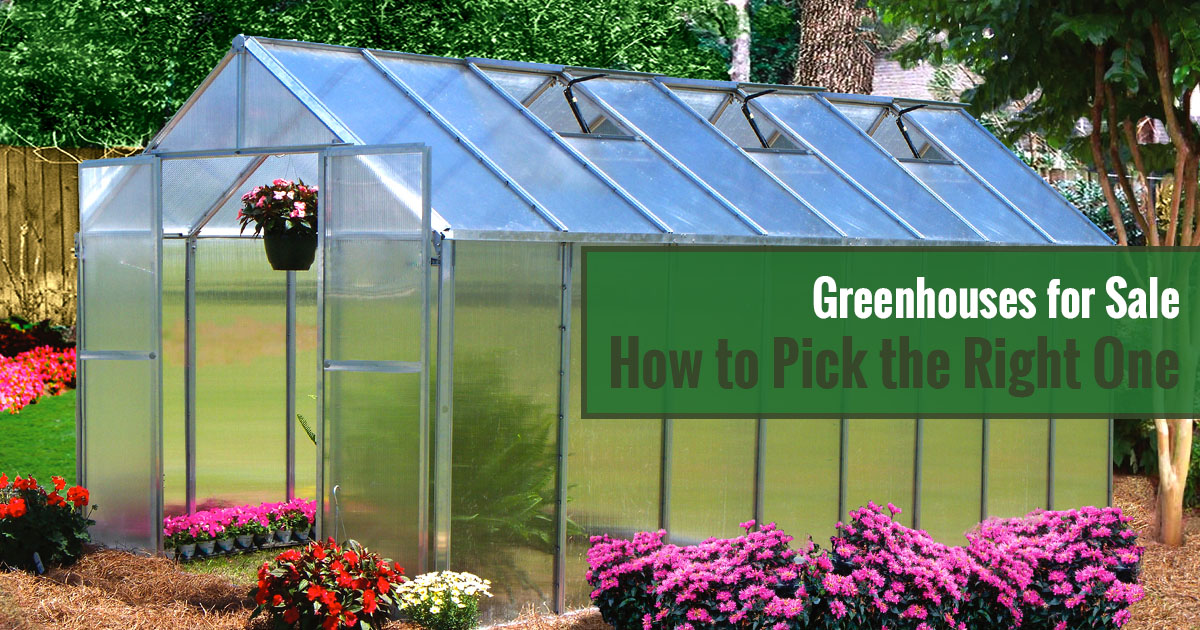 Greenhouses for Sale - How to Pick the Right One