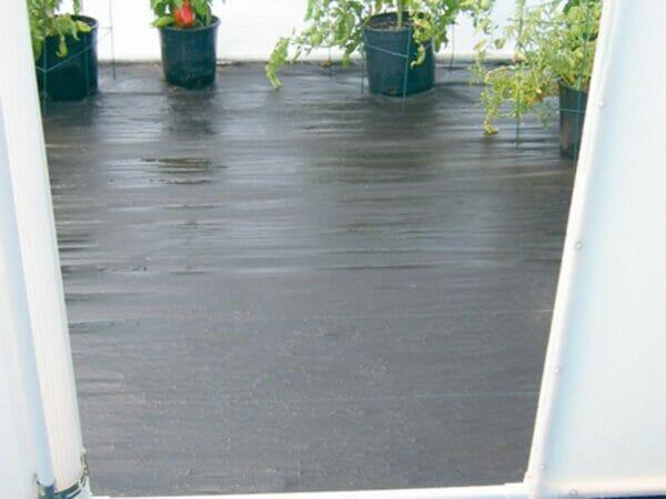 Solexx Greenhouse Flooring in a greenhouse