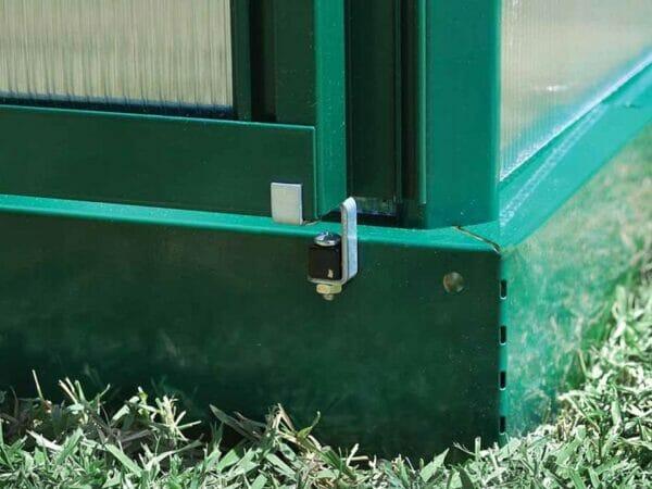 Palram Hybrid 6ft x 6ft Hobby Greenhouse-HG5506(G) - galvanized steel base