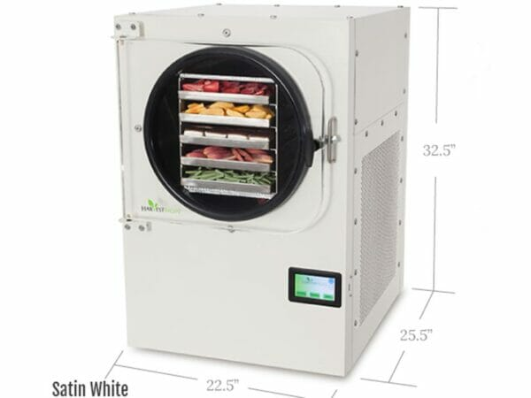 Harvest Right Freeze Dryer Large White with dimensions