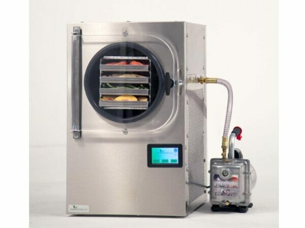 Harvest Right Freeze Dryer with vacuum pump on the right side