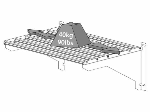 Palram 24.5in x 16.5in Heavy Duty Shelf Kit Full image in white background