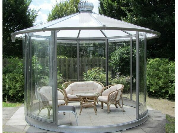 Hoklartherm Classico Garden Pavilion in Anthracite Grey