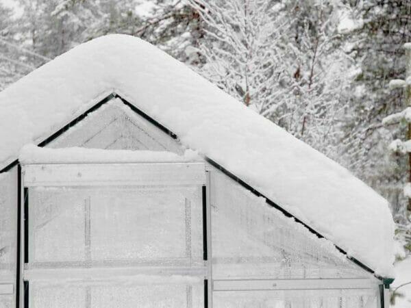 Palram Hybrid 6ft x 8ft Hobby Greenhouse-HG5508(G) - covered in snow