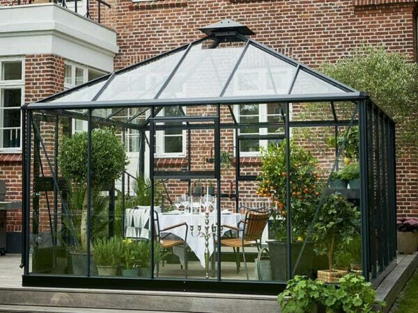Juliana Oase Anthracite Toughened Glass 12ft x 12ft