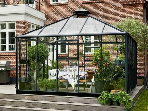Juliana Oase Anthracite Toughened Glass 12ft x 12ft.