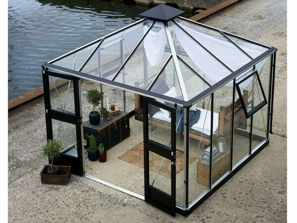 Juliana Oasis Greenhouse 10ft x 10ft Aluminum Top View