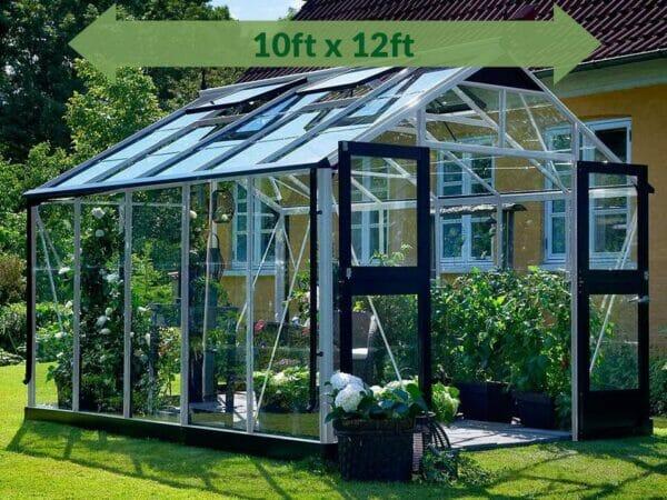 Alu/Black Juliana Premium Greenhouse 10ft x 12ft
