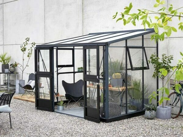Juliana Veranda Greenhouse 10ft x 7ft anthracite