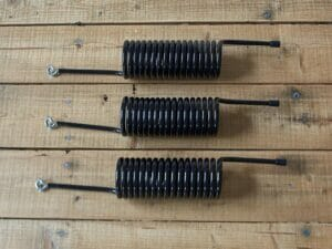 Juliana Flexible Plant Spirals - Set of 3 on wooden ground