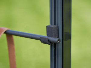 Detailed view of the Juliana Greenhouse Frame Hook