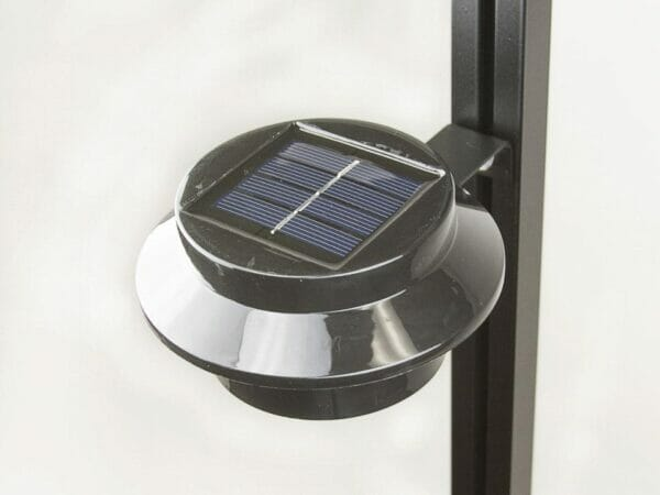 Installed Juliana Greenhouse Interior Solar Light with white background