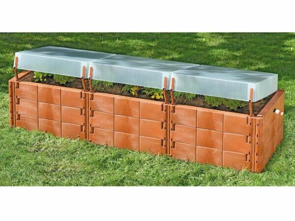 Triple-Box Raised Bed with Cover