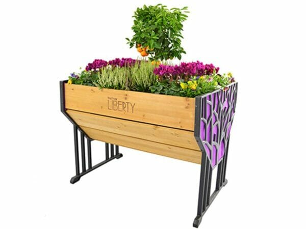 Purple Liberty VegTrug Raised Bed Planter with plants