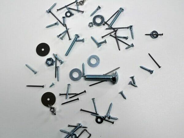 Joyful Flappers™ Magnetic Sweeper 2-in-1 Combo Kit - metal debris - grey background
