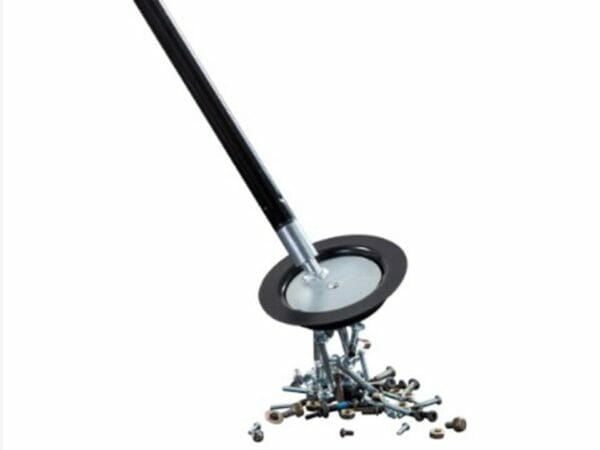 Joyful Flappers™ Magnetic Sweeper 2-in-1 Combo Kit - magnetic disk with attached metal debris - white background