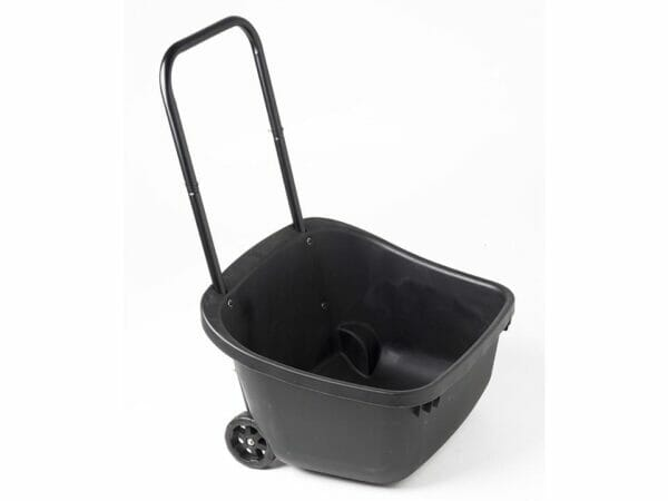 Black MAZE Composting Cart from a side view