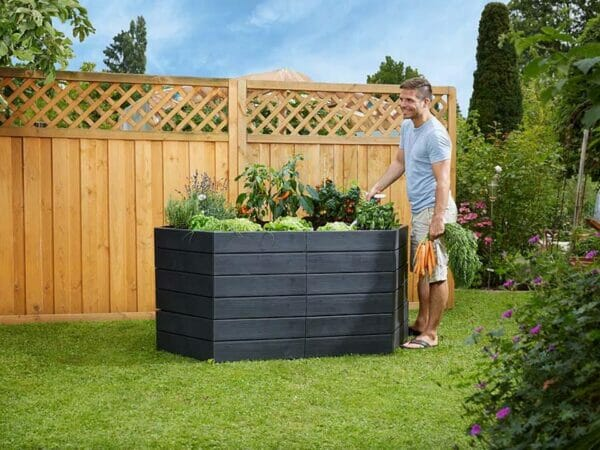 Triple Raised Bed Set with Extensions