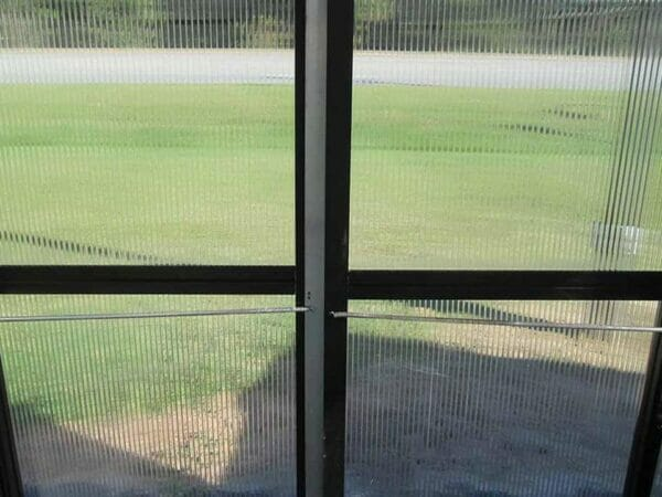 Riverstone Monticello Greenhouse 8x16 - Premium Package - dual hinged lockable door