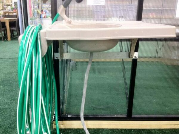 Installed Monticello Greenhouse Sink System