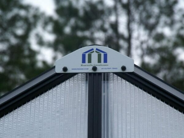 Monticello Logo on the gable of the Patio Greenhouse