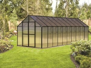 Riverstone Monticello Greenhouse 8x20 with black frame