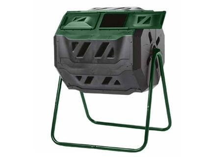 Mr. Spin Dual Compartment Compost Tumbler with white background
