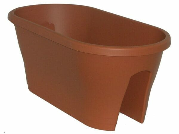 ELHO Oval Corsica Flower Bridge Planters - Set of 2 - Terra