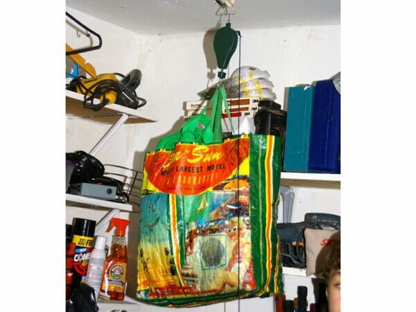 Hanging bags using the Plants Caddie Hook