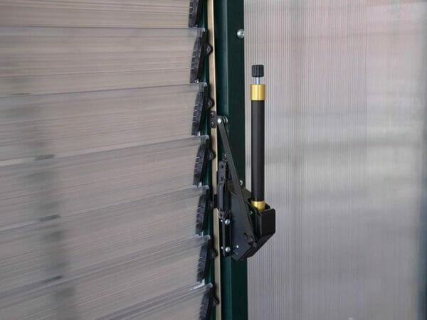 Rion Prestige 2 Twin Wall 8ft x 12ft Greenhouse HG7312 - automatic louver opener