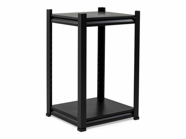 Black 2-tier shelf